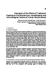 Evaluation of the Effects of Traditional Cupping on the ... - InTech
