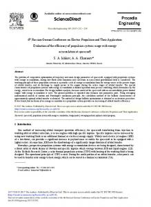 Evaluation of the Efficiency of Propulsion Systems ... - Science Direct