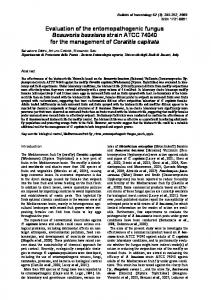 Evaluation of the entomopathogenic fungus ... - Semantic Scholar
