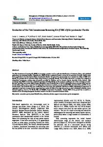 Evaluation of the Fish Invasiveness Screening Kit (FISK v2) - reabic