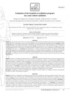 Evaluation of the hospital accreditation program: face and ... - Scielo.br
