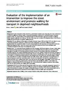 Evaluation of the implementation of an intervention to improve the ...
