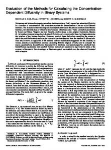 Evaluation of the Methods for Calculating the