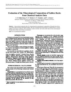 Evaluation of the Mineralogical Composition of Gabbro ... - Springer Link