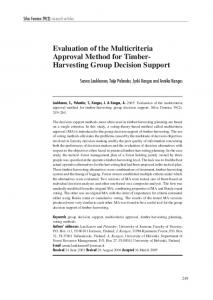 Evaluation of the multicriteria approval method for timber-harvesting ...