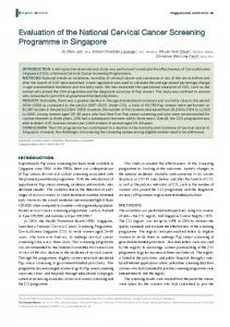 Evaluation of the National Cervical Cancer Screening Programme in ...