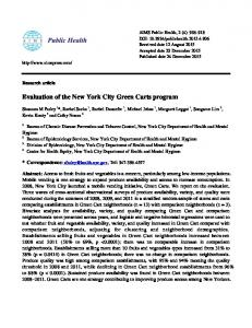 Evaluation of the New York City Green Carts program