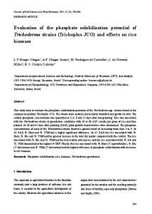 Evaluation of the phosphate solubilization potential of ... - SciELO