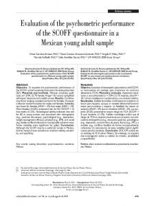 Evaluation of the psychometric performance of the