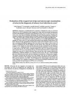 Evaluation of the reagent test strips and microscopic ... - SciELO