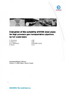 Evaluation of the suitability of Evaluation of the ... - Berg Steel Pipe