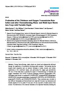 Evaluation of the Thickness and Oxygen Transmission Rate ... - MDPI
