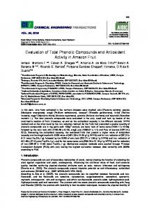 Evaluation of Total Phenolic Compounds and Antioxidant ... - aidic