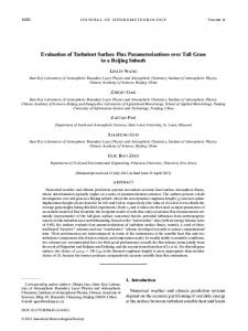 Evaluation of Turbulent Surface Flux ... - AMS Journals