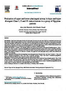 Evaluation of upper and lower pharyngeal airway in ...