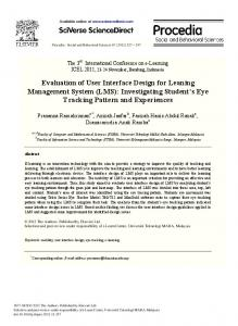 Evaluation of User Interface Design for Leaning Management System ...