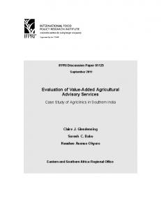 Evaluation of Value-Added Agricultural Advisory Services - Syngenta ...