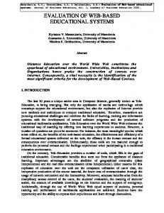 evaluation of web-based educational systems - CONTA