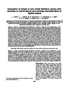 Evaluation of wheat or corn dried distillers' grains with solubles ... - Addi