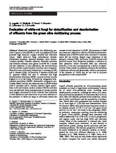 Evaluation of white-rot fungi for detoxification and ... - Springer Link