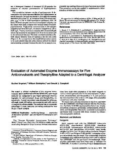 Evaluationof Automated Enzyme ... - Clinical Chemistry
