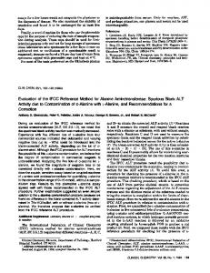 Evaluationof the IFCC Reference Method for ... - Clinical Chemistry