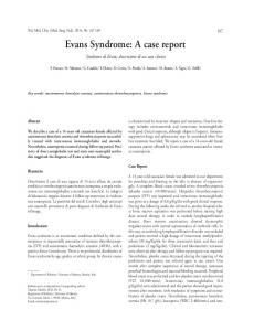 Evans Syndrome: A case report