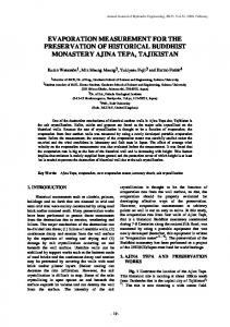 evaporation measurement for the preservation of historical buddhist ...