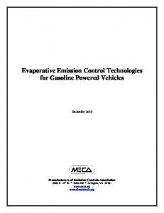 Evaporative Emission Control Technologies for Gasoline Powered ...