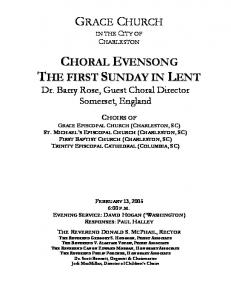 Evensong with Barry Rose - Grace Episcopal Church