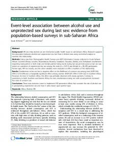 Event-level association between alcohol use and ... - Semantic Scholar