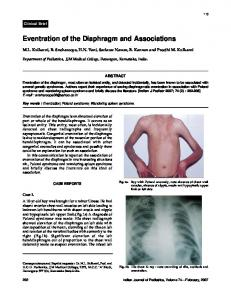 Eventration of the Diaphragm and Associations - medIND