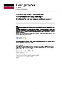 Everybody does pirating!? ? Children?s views about