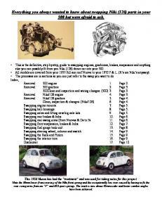 Everything you always wanted to know about ... - Fiat 500 Club