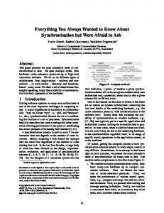 Everything You Always Wanted to Know About ... - SIGOPS