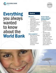 Everything you always wanted to know about the World Bank