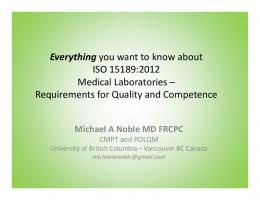 Everything you want to know about ISO 15189:2012 Medical ...
