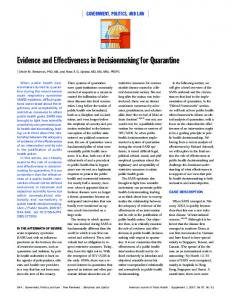 Evidence and Effectiveness in Decisionmaking for ... - CiteSeerX