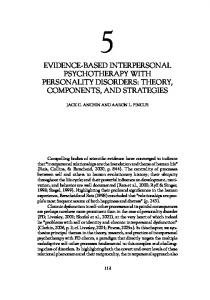 Evidence-based interpersonal psychotherapy with ... - CiteSeerX