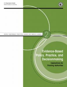 Evidence-Based Policy, Practice, and Decisionmaking: Implications ...