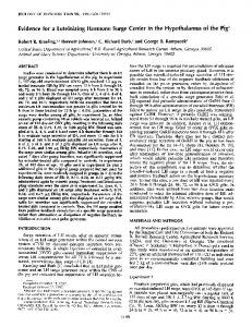 Evidence for a Luteinizing Hormone Surge Center in the ...