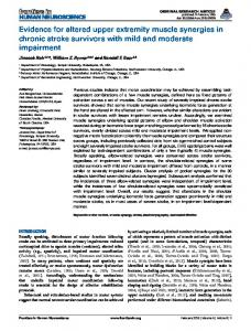 Evidence for altered upper extremity muscle ... - Semantic Scholar