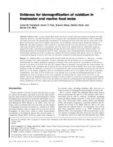 Evidence for biomagnification of rubidium in freshwater and marine ...