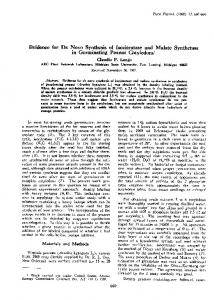 Evidence for De Novo Synthesis of Isocitratase and Malate Synthesis ...