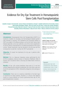 Evidence for Dry Eye Treatment in Hematopoietic ...