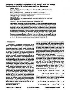 Evidence for inelastic processes for N3+ and N4+ from ... - Mark Kushner