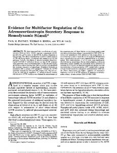 Evidence for Multifactor Regulation of the