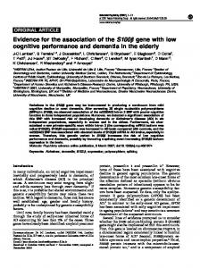 Evidence for the association of the S100b gene ... - Semantic Scholar