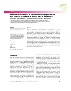 Evidence for the effects of environmental ... - Wiley Online Library