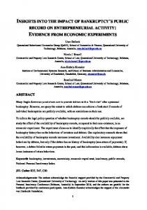 evidence from economic experiments